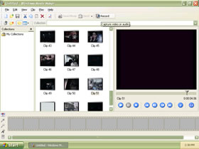 Movie Maker in action(The Matrix Trailer) Using Olive Colour Scheme Screenshot in Olive Colour Scheme(Click to view full 70.6KB)